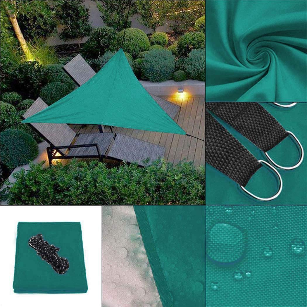 worlder Portable Triangle Shape UV Protection Outdoor Sunscreen Awning Canopy Shade Sails by worlder