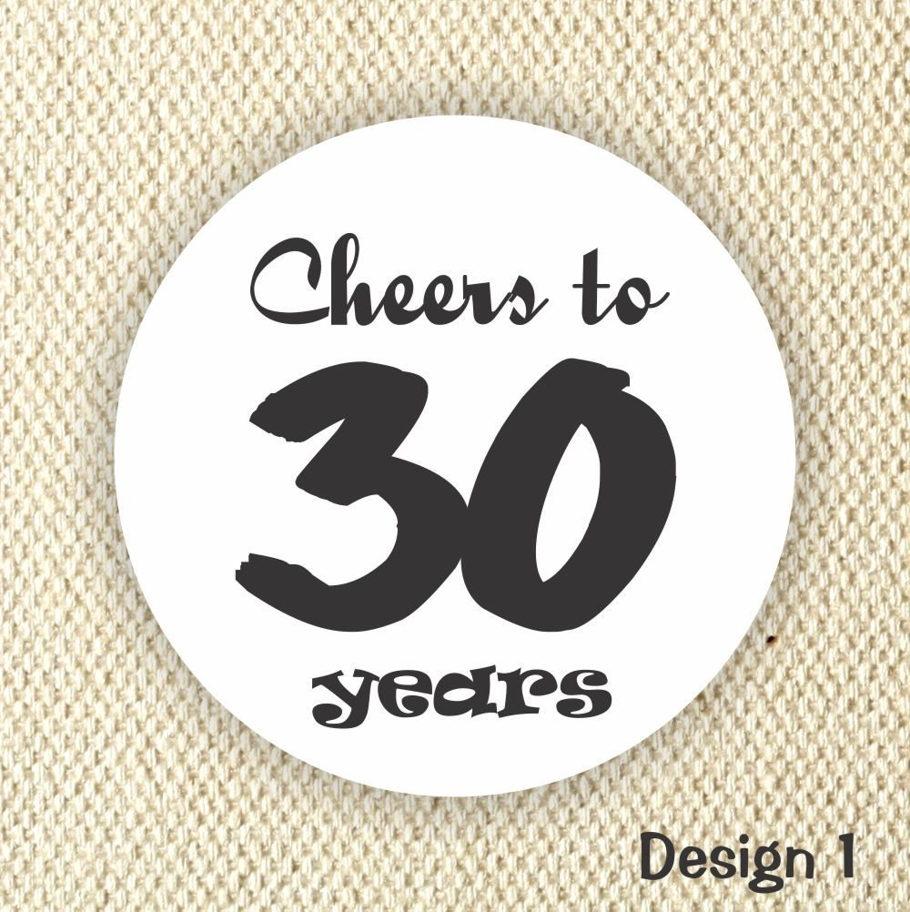 Amazon com cheers to 30 years stickers 30th birthday stickers birthday favor stickers handmade