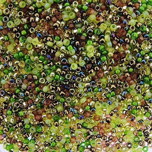 Miyuki Round Seed Beads Size 15/0 8.2g Earthtone Mix ()