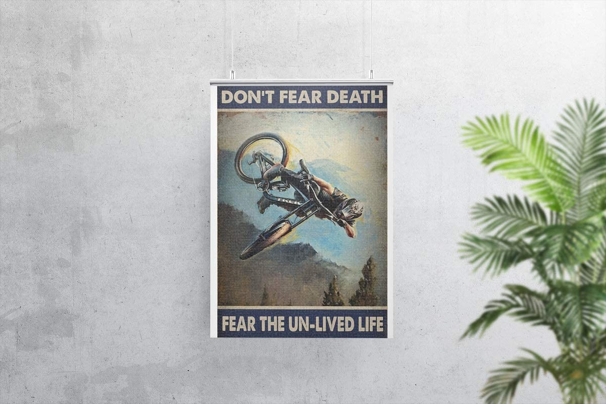Enduro mountain bike don't fear death fear the unlived life poster