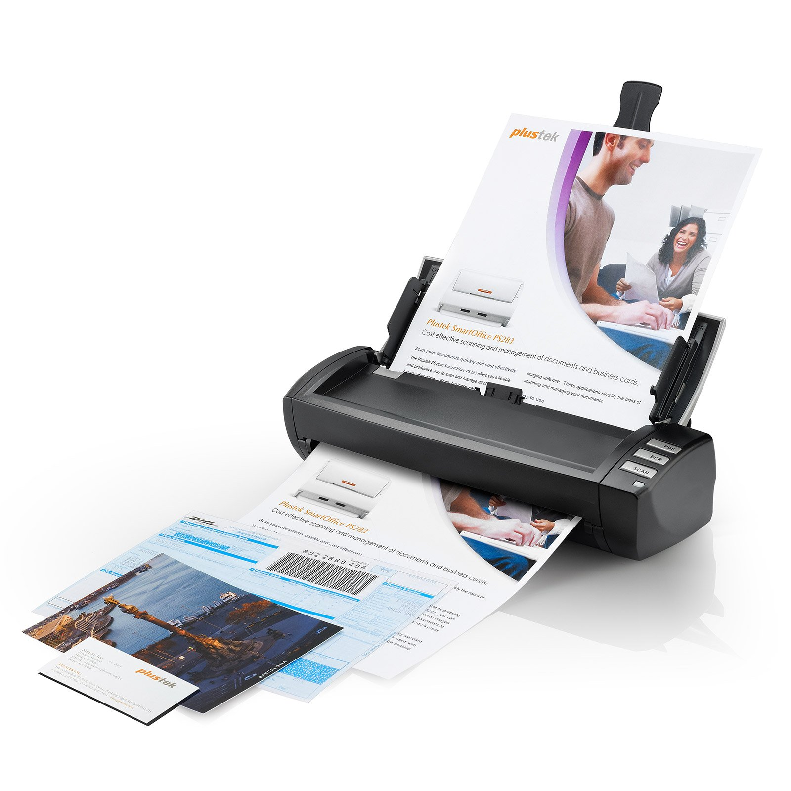 Plustek AD480 - Desktop Scanner for Card and Document, with 20 Page Paper Feeder and Exclusive Card Slot. for Windows only by Plustek