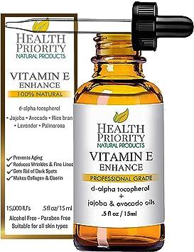 Aceite 100% natural y orgánico de vitamina E para la cara y la ...