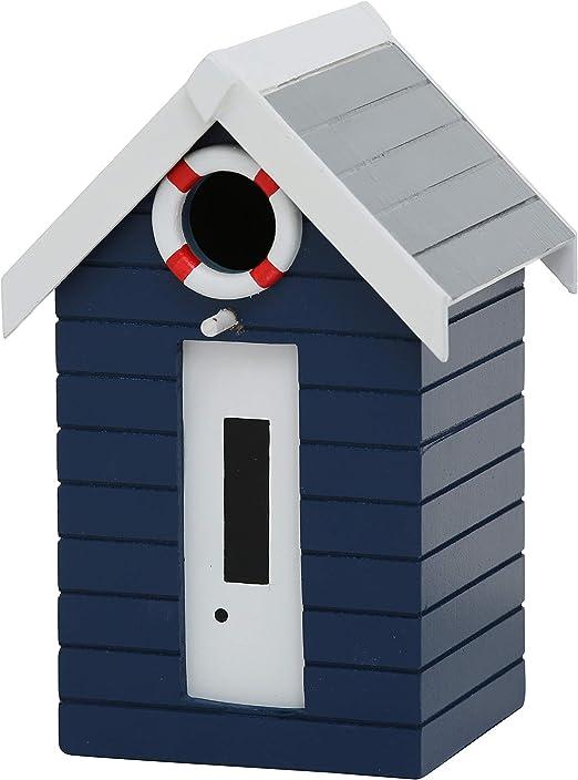 CasaJame Hogar Accesorios Decoración Jardín Casa para Pájaros en Forma de Torre de Vigilancia de Salvavidas Azul Oscuro Flotador Blanco Rojo 14x13x21cm: Amazon.es: Productos para mascotas
