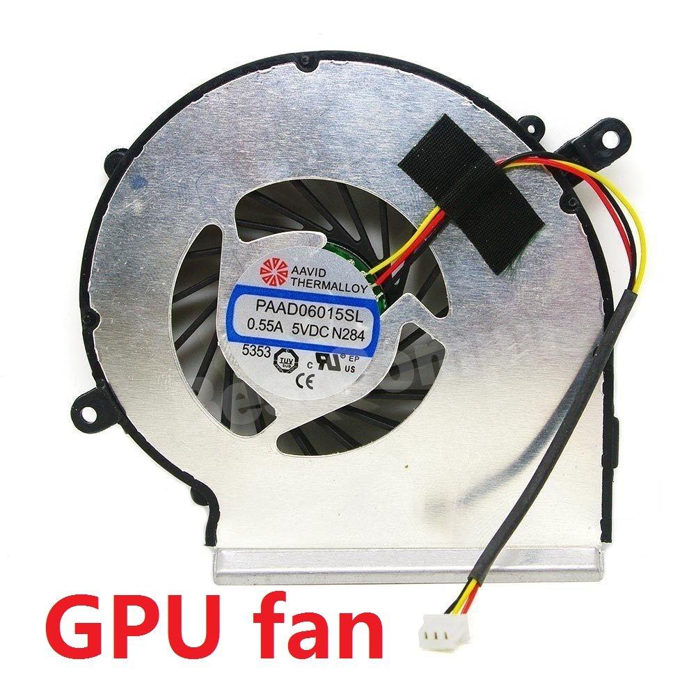 wangpeng® Generic Replacement for MSI GE62 GL62 GE72 GL72 GP62 GP72 PE60 PE70 Cooling GPU Fan PAAD06015SL Compatible Laptop Fan