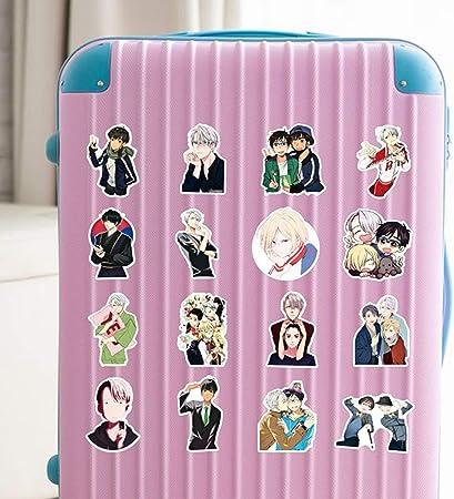 MacBook resistentes al agua equipaje 50 pegatinas de Anime Yuri on Ice de ALTcompluser monopat/ín para port/átil de vinilo