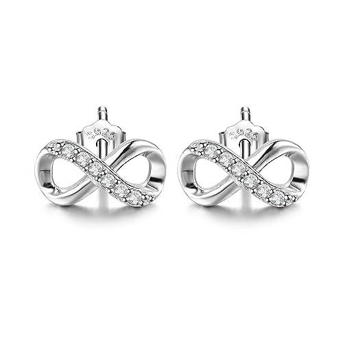 Sterling Silver f Stud Earrings LLwW92