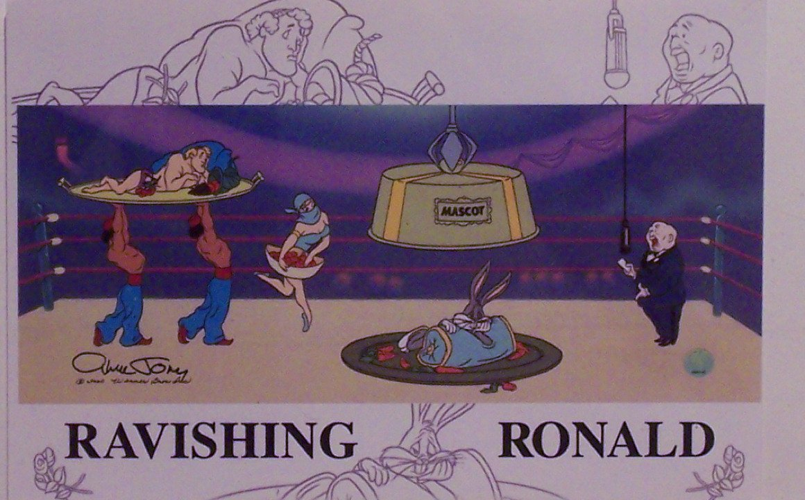 Bugs Bunny and Ravishing Ronald from 'The Crusher' Ltd Print Matted Warner Bros.