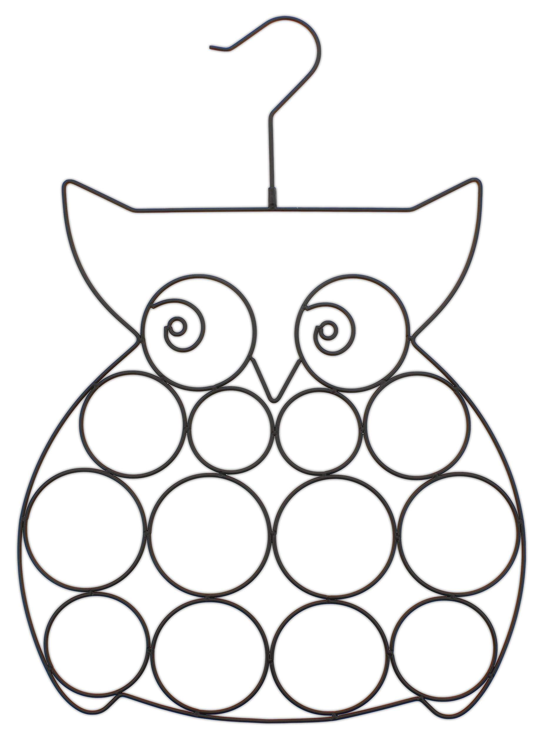 Scarf & Jewelry Organizer Metal Wire Owl Design
