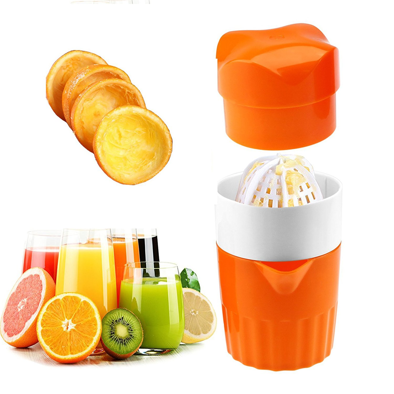 Markmesafe Manual Lid Rotation Citrus Juicer, Lemon, Orange, Tangerine & Lime Juice Squeezer: Pour Spout - Perfect Juicer Mug for Kids