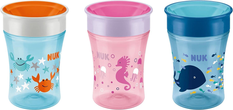 NUK Magic 360//° 230/ml 1/unidades Rosa caballito de mar Taza 8/meses+