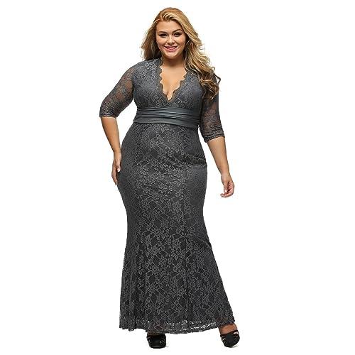 Plus Size Gray Dress Amazon