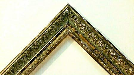 3 1//2 X 4 1//2 ITALIAN MADE GOLD LEAF OVAL w// SCROLL STANDARD PICTURE FRAME N//R