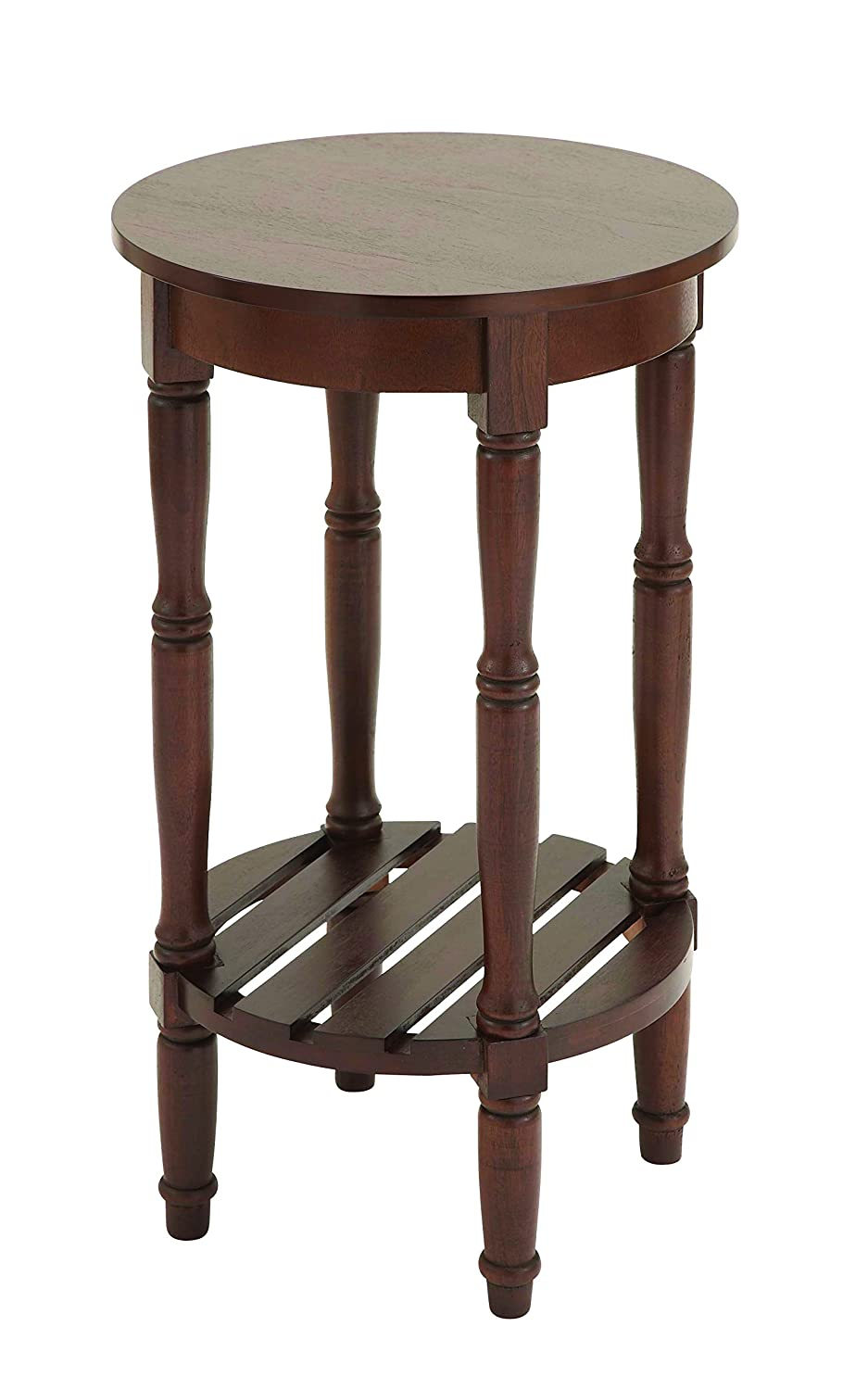 Amazon.com: Benzara Wood Round Side Table, 18 By 18 By 18 Inch, Green:  Kitchen U0026 Dining
