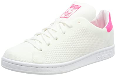 adidas Stan Smith Primeknit, Sneakers Basses Mixte Adulte, Blanc Footwear White/Bleu Ultra