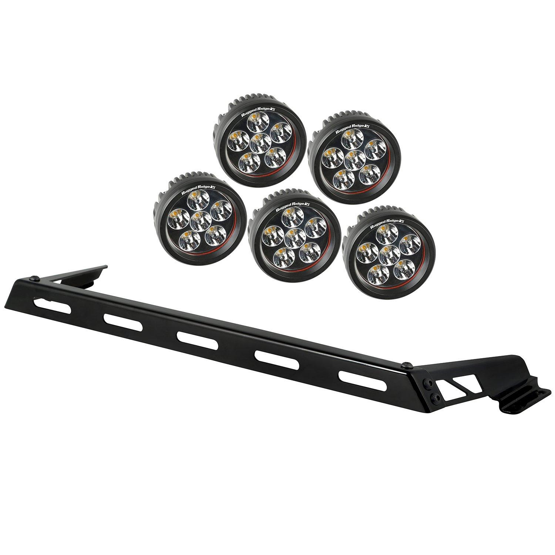 Rugged Ridge 11232.06 Hood Light Bar Kit with 3 Round LED Lights