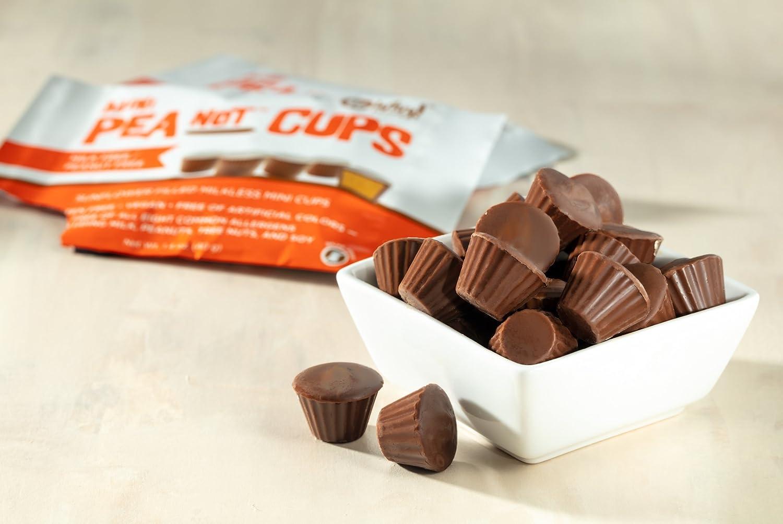 Premium Chocolatiers Mini cacahuete del chocolate tazas de mantequilla (tres paquetes) de leche sin frutos secos vegano libre: Amazon.es: Alimentación y ...