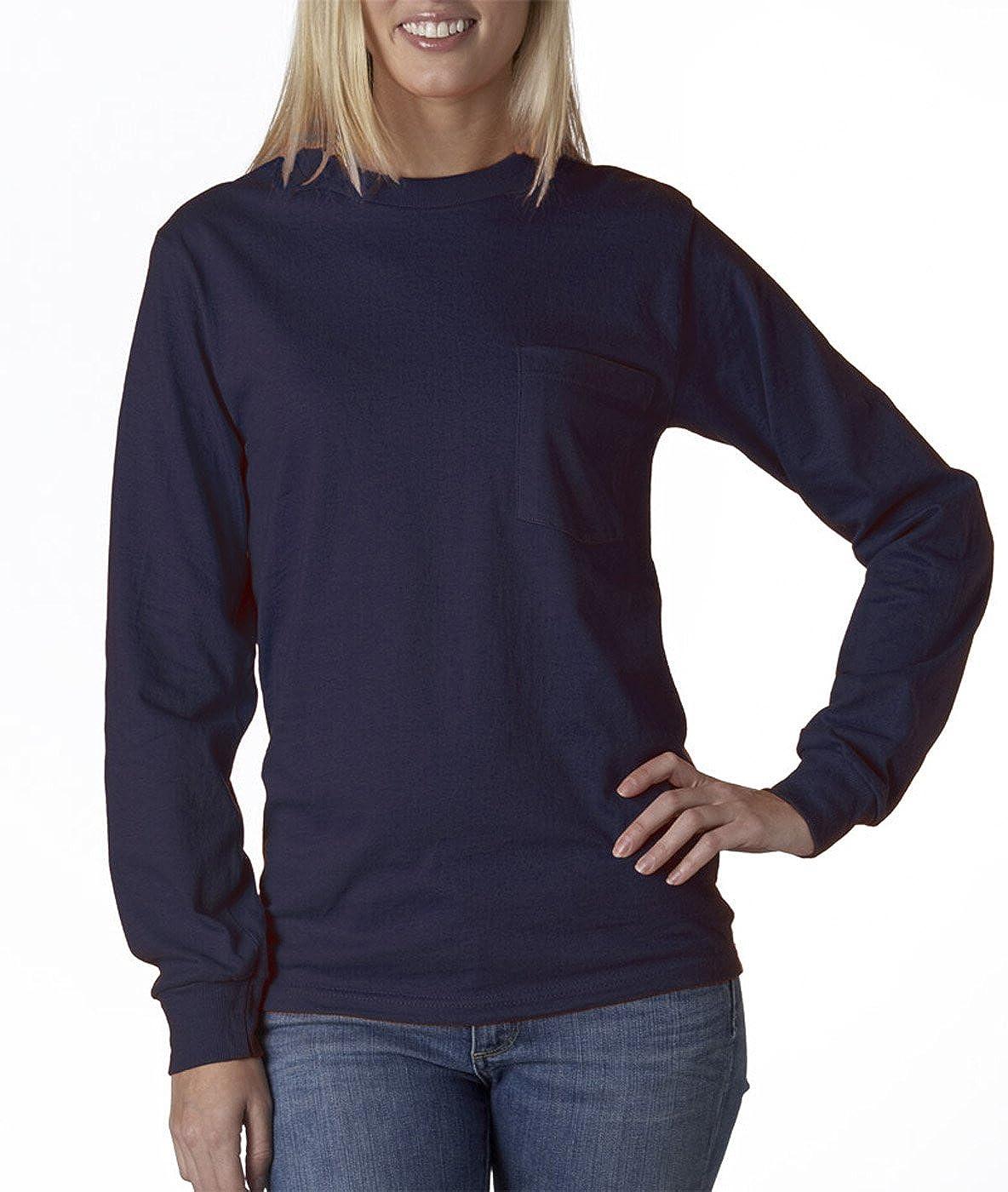 Long-Sleeve Pocket T-Shirt Gildan Ultra Cotton 6 oz