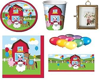 Farmhouse Fun Kids Birthday Party Supplies Platos Vasos Vasos