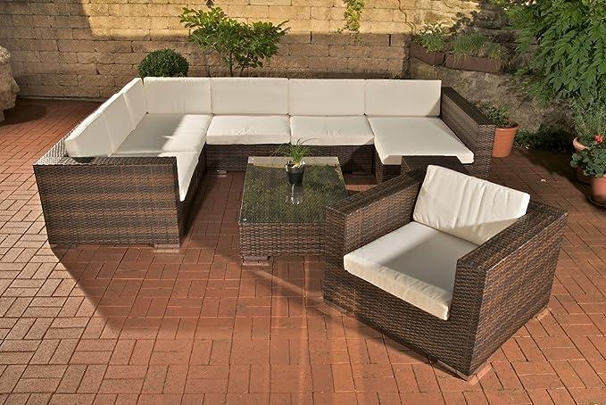 Homy - Conjunto de Muebles de jardín, gran Sofá BARCELONA ...