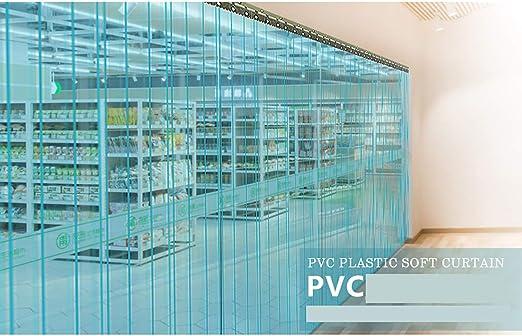 XIAO Cortina de Tira Suave de PVC, Hardware Incluido Transparente ...