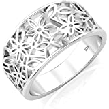 925 Sterling Silver Victorian leaf Filigree Ring