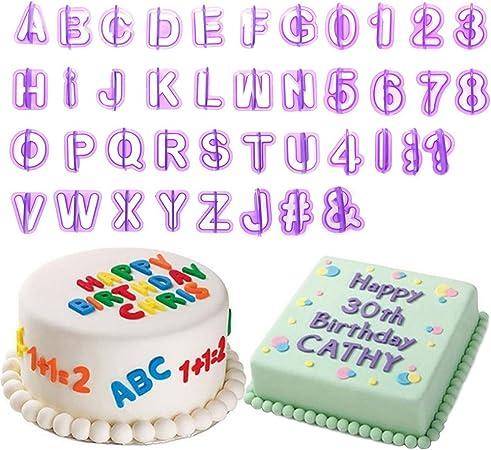 Groovy Bihood Fondant Letter Cutters Cookie Letter Cutter Letter Cookie Birthday Cards Printable Riciscafe Filternl