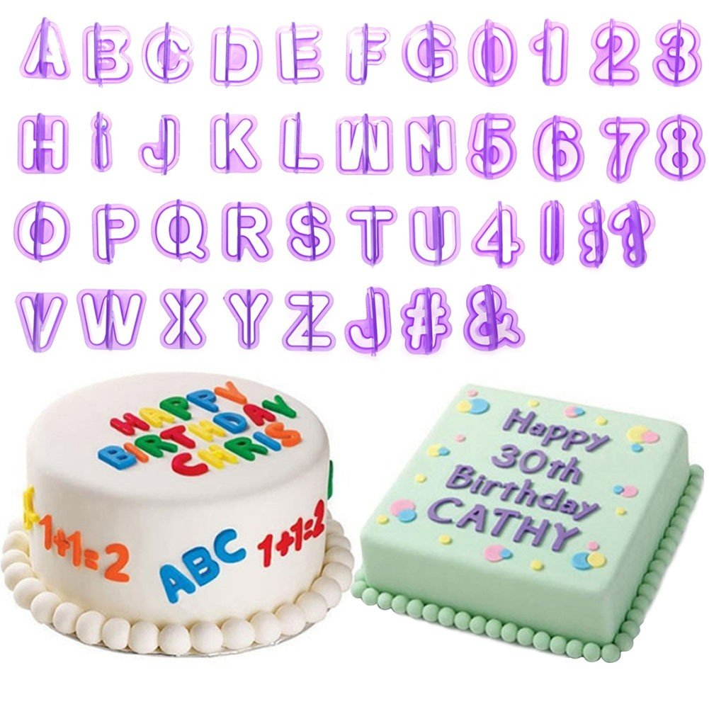 Bihood Fondant Letter Cutters Cookie Cutter A Icing Wedding Cake Toppers Letters Happy