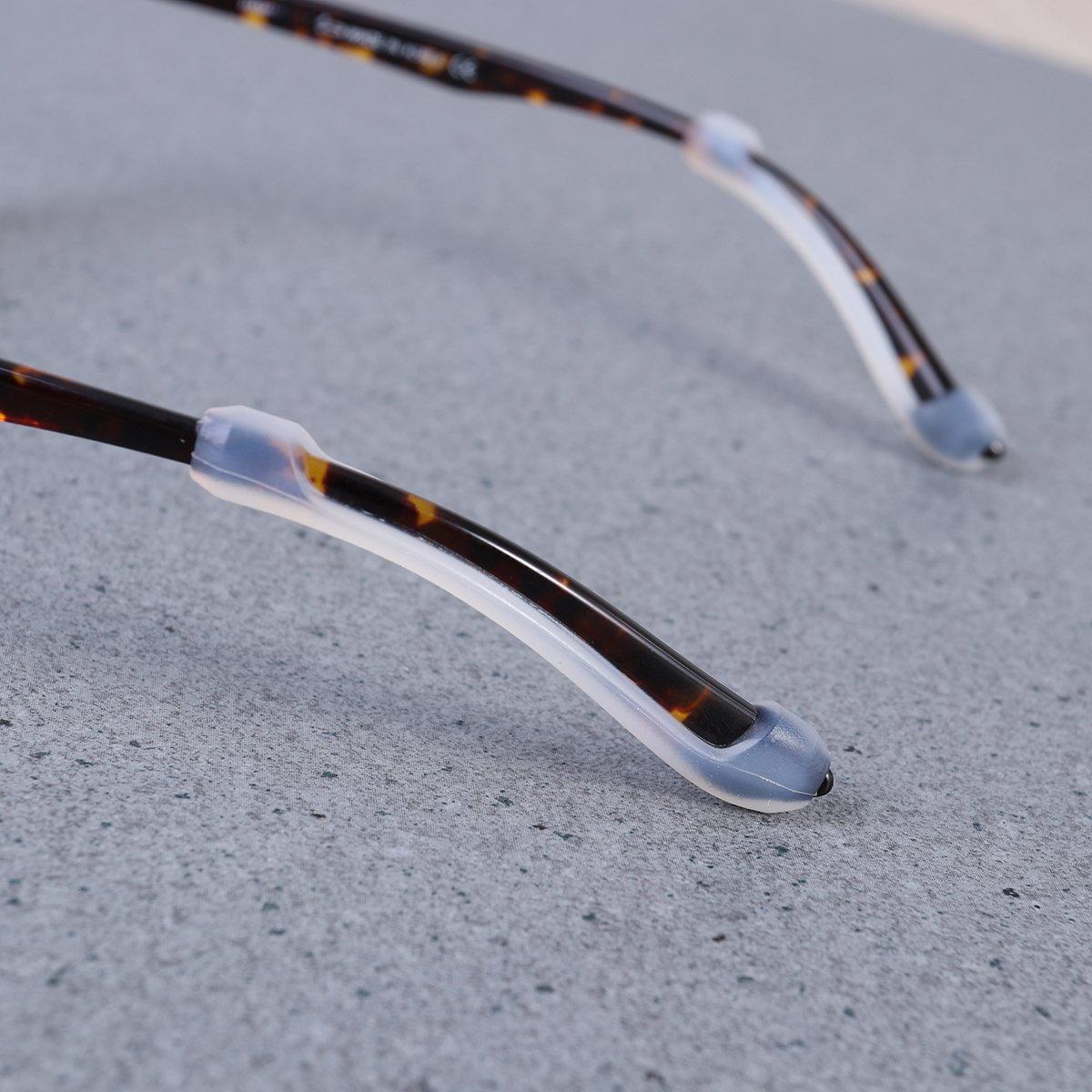 Wei/ß HEALIFTY 5 Paare Silikon Brillenhalter f/ür Brillen Sonnenbrillen
