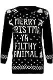 Celeb Look Sam Faiers Home Alone Merry Christmas Ya Filthy Animal Xmas Jumper
