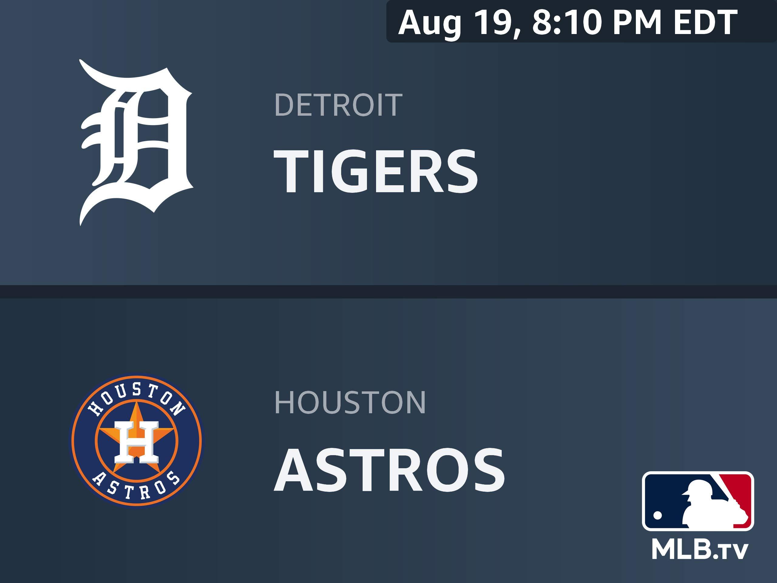 Amazon.com: Detroit Tigers at Houston Astros