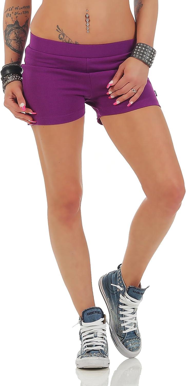 Gennadi Hoppe Damen Hotpants Kurze Fitness Hose Yoga Laufshorts Sporthose Trainingshose Gym Strech Shorts