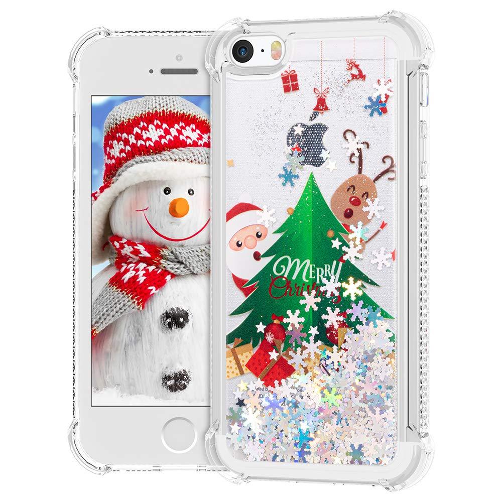 Ruky Iphone 5 5s Se Christmas Case Glitter Liquid Amazon In Electronics