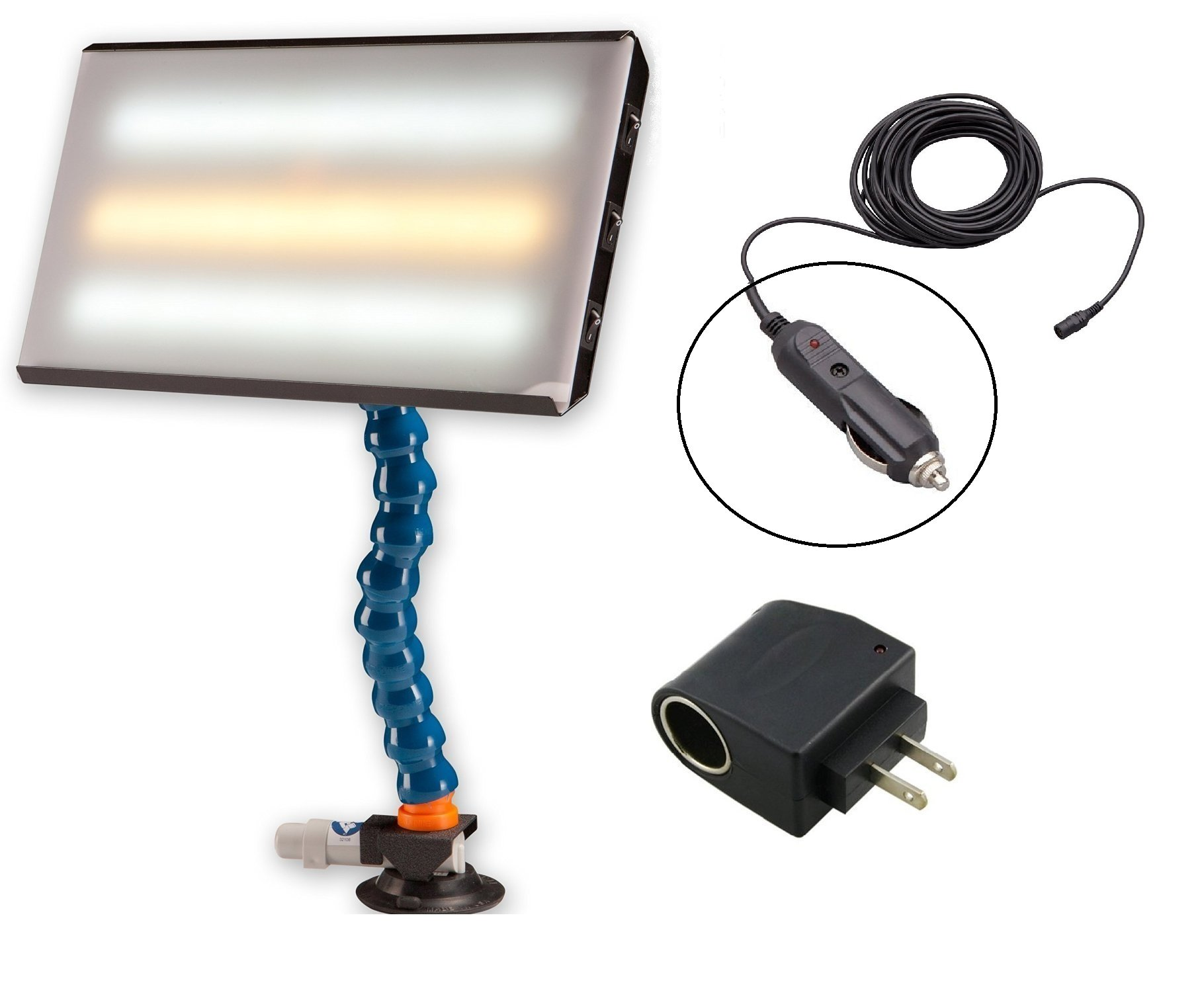 PC LED 130 PDR 13'' Portable 12V CWC LED Light with 110 Converter Paintless Dent Repair
