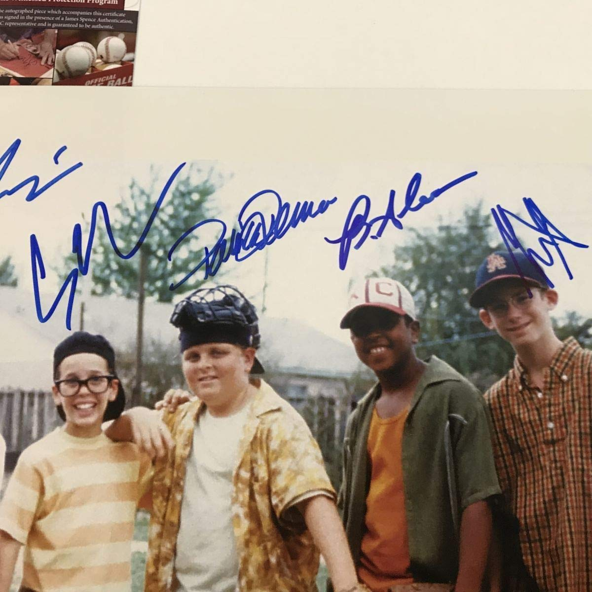 Framed Autographed//Signed The Sandlot Movie 8x Cast Member Sigs 16x20 Baseball Photo JSA COA
