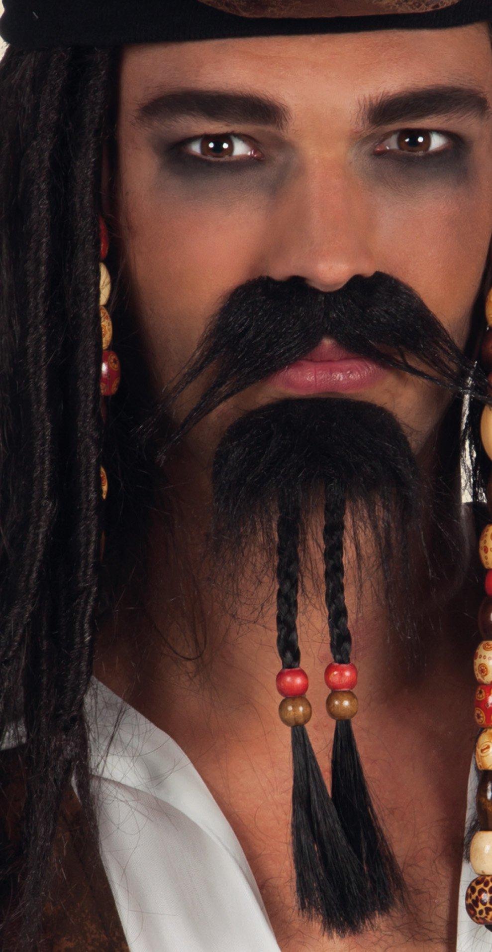 Sea Pirate Beard  Black Self Adhesive Stick on Fancy Dress Accessory