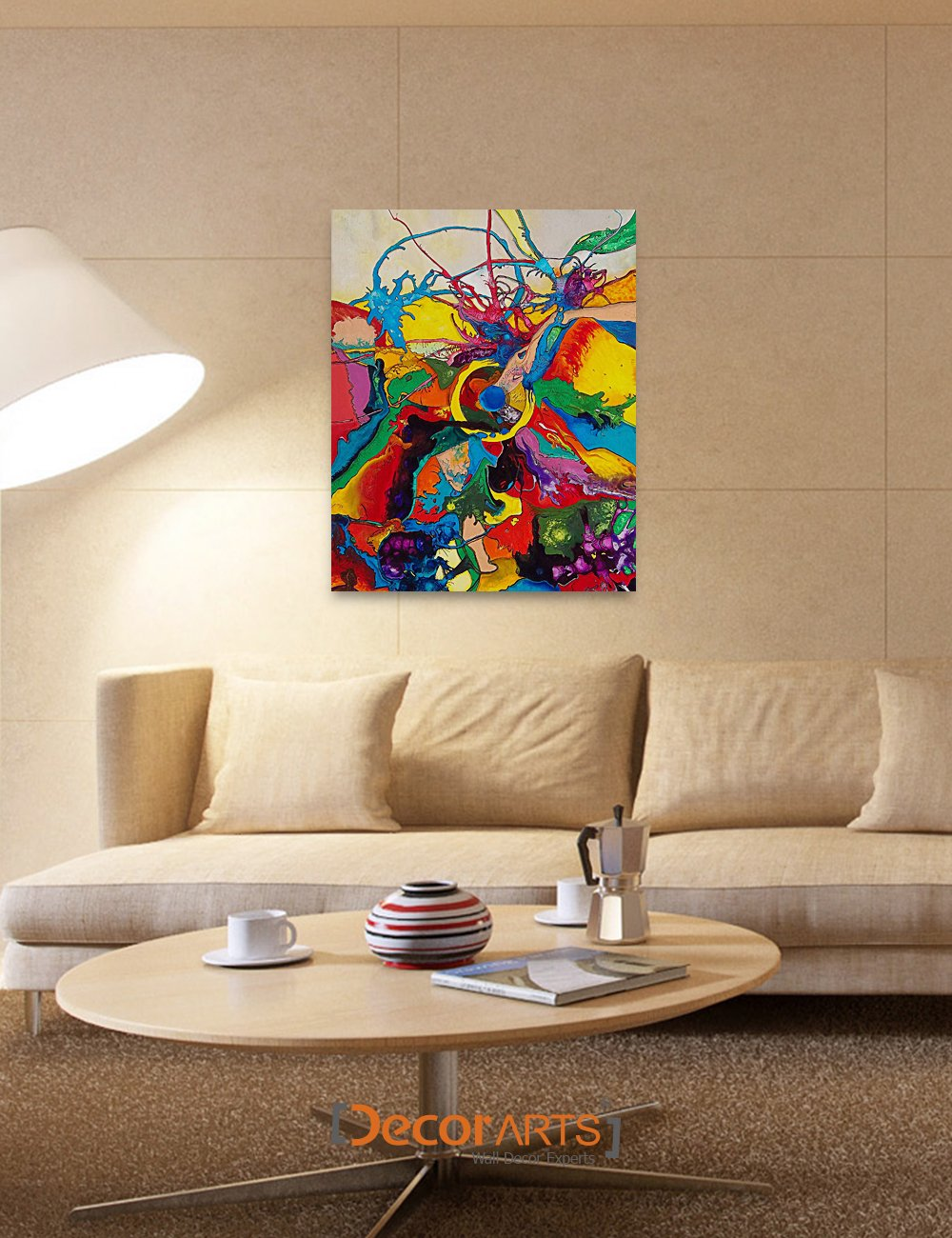 DecorArts Abstract Reproduction Acid free stretched Image 2