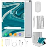 2 in 1 Tablets 10 Inch Android 9.0 with Keyboard Mouse, 4GB RAM+64GB ROM/128GB Upgrade Tablets, Dual SIM 4G, Quad Core…
