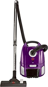 BISSELL Zing Lightweight, Bagged Canister Vacuum, Purple, 2154A (Renewed)