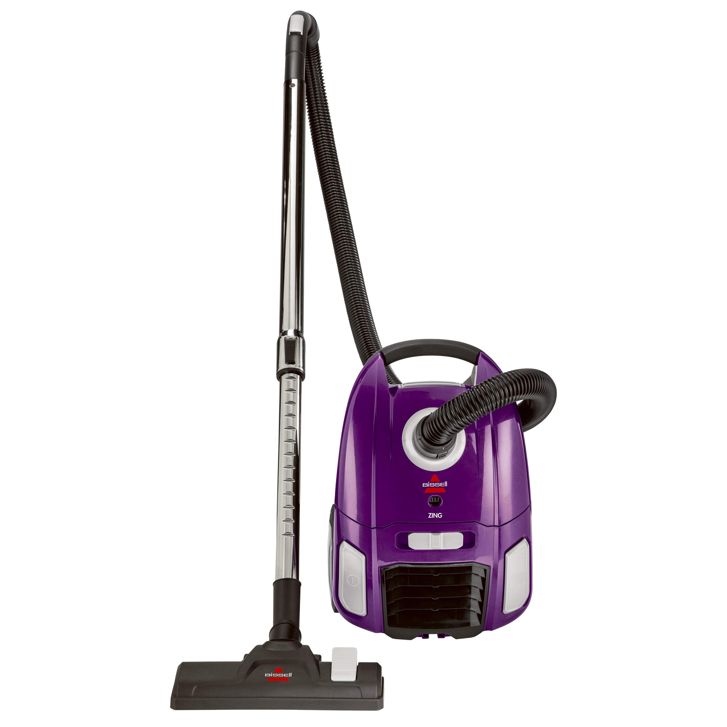 BISSELL Zing Lightweight, Bagged Canister Vacuum, Purple, 2154A (Renewed) by Bissell