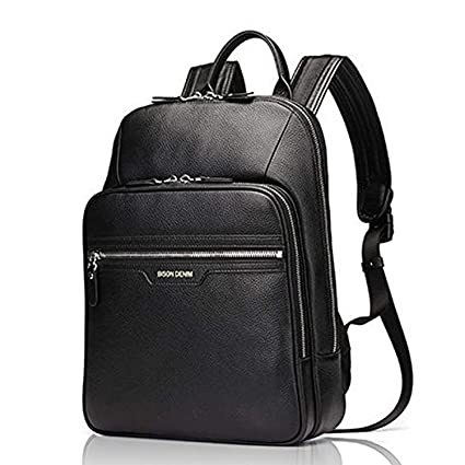 90f18a243366 Bison Denim Real Genuine Leather Backpack Fashion School Camping Travel Bag  Shoulder Laptop Rucksack for men and women  Amazon.co.uk  Luggage