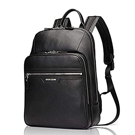 d7d085ead38e Bison Denim Real Genuine Leather Backpack Fashion School Camping Travel Bag  Shoulder Laptop Rucksack for men and women  Amazon.co.uk  Luggage