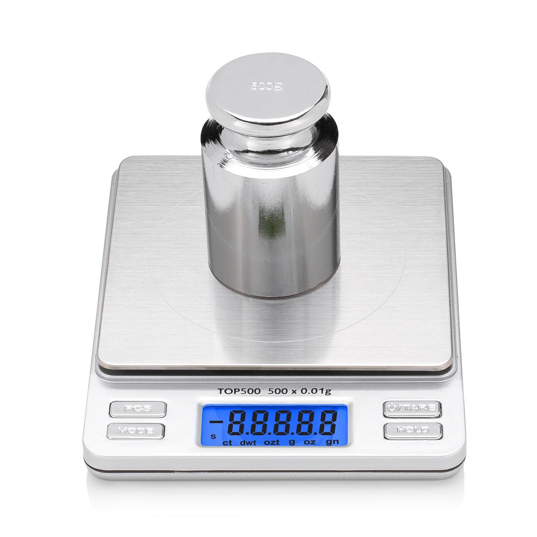 Smart Weigh CW-500G Peso de calibración de acero al carbono de 500 gramos con acabado en cromo: Amazon.es: Industria, empresas y ciencia