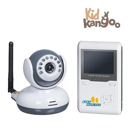 """Vigilabebés con cámara seguridad para bebé alcance 200m pantalla LCD de 2,4"""" videovigilancia"""