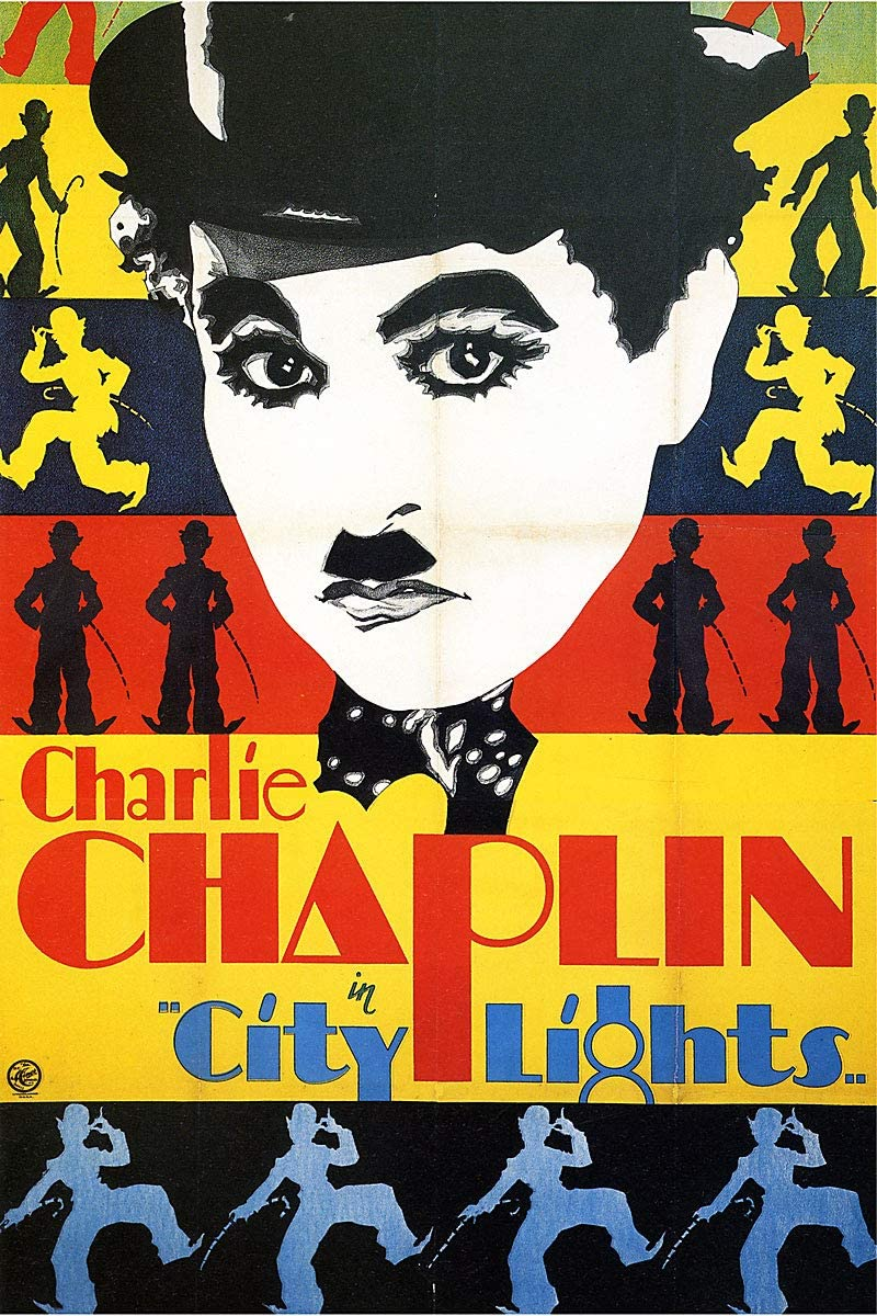 American Gift Services - City Lights Vintage Charlie Chaplin Movie Poster (1) - 11x17