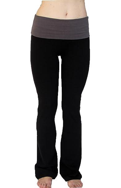 2ac759bbf4b4e Amazon.com: N 365 Petite Yoga Pants With Fold Down Waist: Clothing