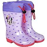 Botas de Agua Niñas Minnie Mouse - Botines Impermeables Infantiles Official Disney Minni - Suela Antideslizante y Cierre…