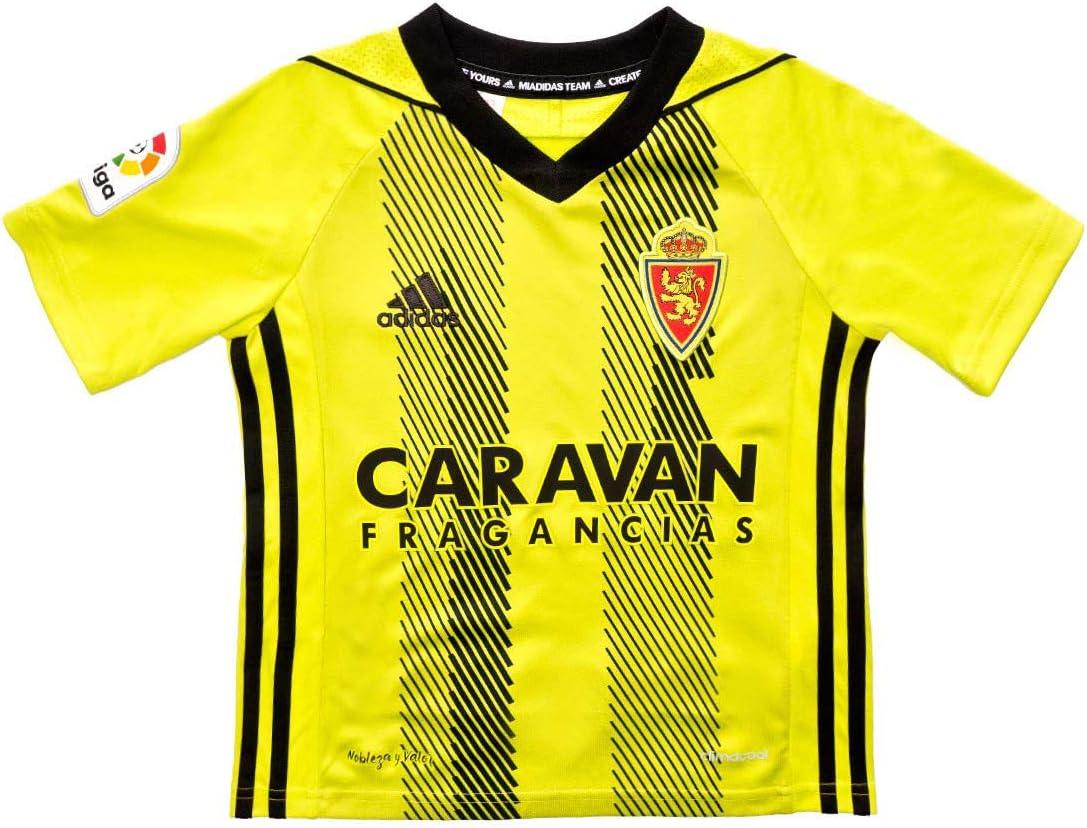 adidas Real Zaragoza Segunda Equipación 2019-2020 Niño, Camiseta, Semi Solar Yellow-Black: Amazon.es: Deportes y aire libre