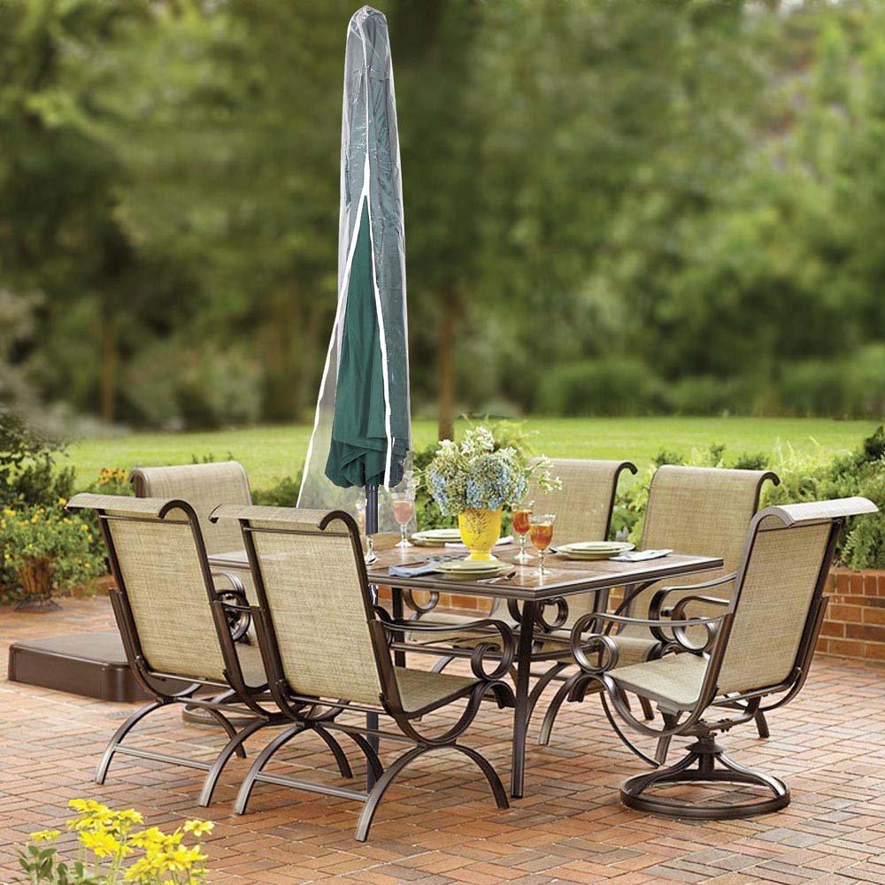 amazoncom yescom waterproof pvc outdoor patio umbrella cover bag w zipper fit 6u0027 7u0027 8u0027 9u0027 10u0027 umb garden u0026 outdoor