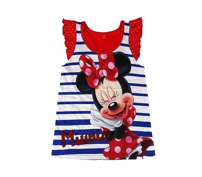 881cf83d8 22-1940 Camiseta de algodón para niña motivo MINNIE tallas 2 a 6 años - 6  años  Amazon.es  Ropa y accesorios