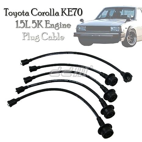 Nueva 8 mm plomo de encendido spark plug cable de alambre para Toyota Corolla KE70 1.5